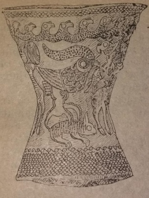 Pocal de la Agighiol, secolul IV. Descoperit într-un mormânt aparţinând unui comandant militar geto-dac. mostenireculturala.com